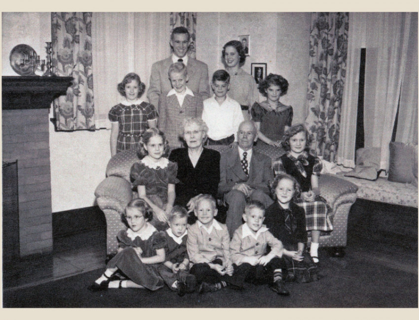 Fred and Kathrine with grandchildren circa 1951